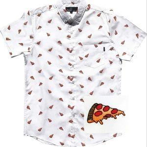 White pizza mens shirt
